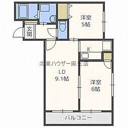 HGS MinamiAsabu 2nd[4階]の間取り