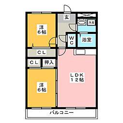リベルコート21[5階]の間取り