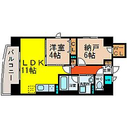 愛知県名古屋市中区丸の内1丁目の賃貸マンションの間取り