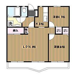 ジュネラス横浜[101号室]の間取り