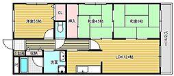 カルム千里丘[1階]の間取り