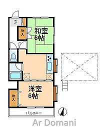 ラフィーヌ・吉野B棟[2階]の間取り