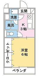 静岡県裾野市平松の賃貸アパートの間取り