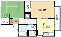 パレーシャル柳田[2階]の間取り