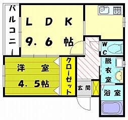 ロイヤルハウス[2階]の間取り