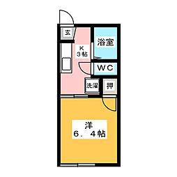 タウニー内田B[1階]の間取り
