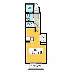 MSビレッジ[1階]の間取り