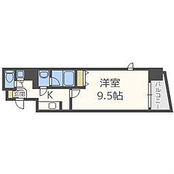 大阪府大阪市中央区常盤町1丁目の賃貸マンションの間取り