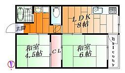箕面ローレルハイツ2[2階]の間取り