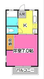 クレソンハウス[1階]の間取り
