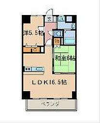 福岡県北九州市八幡西区陣原1丁目の賃貸マンションの間取り