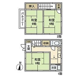 [一戸建] 東京都足立区千住柳町 の賃貸【/】の間取り