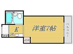 東京都世田谷区赤堤5丁目の賃貸マンションの間取り