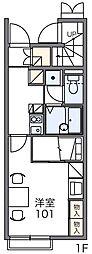 レオパレス富光II[1階]の間取り