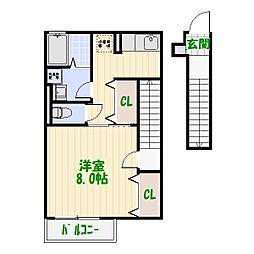 東京都葛飾区東金町3丁目の賃貸アパートの間取り