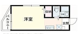 東京都荒川区町屋8丁目の賃貸アパートの間取り