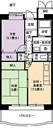 URアーバンラフレ小幡3号棟[6階]の間取り