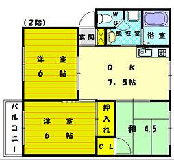 シーショアI[2階]の間取り