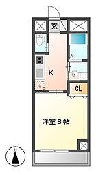 BERG IZUMI(ベルグイズミ)[6階]の間取り