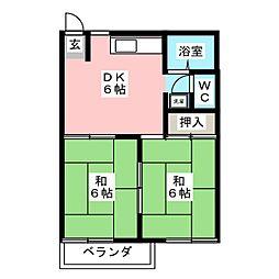 フォーヴル富士見[2階]の間取り