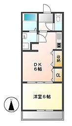 明治第7ビル[2階]の間取り