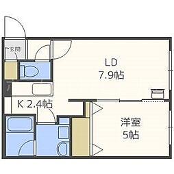北海道札幌市白石区栄通12丁目の賃貸マンションの間取り