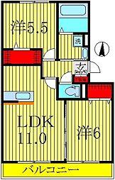 エクレールB棟[1階]の間取り