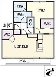 エコールビラA棟[2階]の間取り