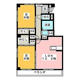 キュリオシティ 2番館[3階]の間取り