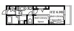 神奈川県横浜市旭区白根1丁目の賃貸アパートの間取り
