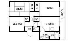 仁川マンション[407号室]の間取り