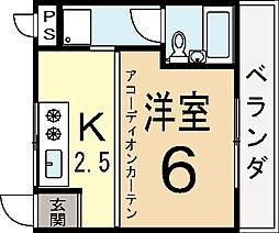 スカイドーム寺田[3階]の間取り