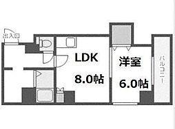 ベルテ手稲前田[4階]の間取り