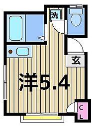 AKEBONO House[201号室]の間取り