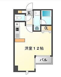 ハイムタケダT−9[5階]の間取り
