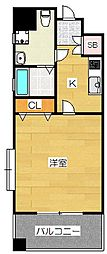ピュアドームグランテージ博多[10階]の間取り