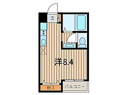 埼玉県さいたま市桜区山久保1丁目の賃貸アパートの間取り