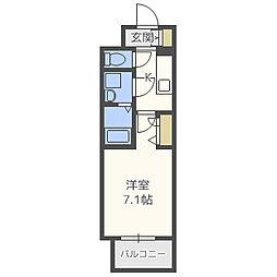 レジュールアッシュ梅田LUXE(レジュールアッシュ梅田リュクス) 7階1Kの間取り