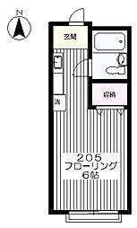 東京都府中市新町1丁目の賃貸アパートの間取り