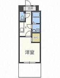 福岡市地下鉄七隈線 薬院大通駅 徒歩6分の賃貸マンション 4階1Kの間取り
