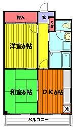 埼玉県草加市中央1丁目の賃貸マンションの間取り