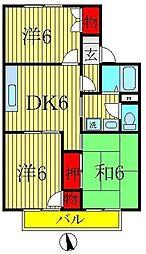 ジュネス美田[2階]の間取り