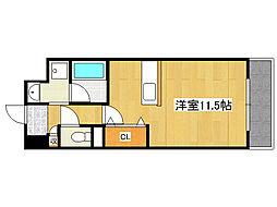 阪急神戸本線 王子公園駅 徒歩10分の賃貸マンション 1階1Kの間取り