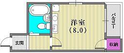 ロイヤルハイツ兵庫[3階]の間取り