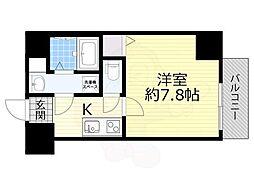 TOYOTOMI STAY PREMIUM 梅田3 7階1Kの間取り