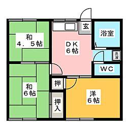 ストリーム小川 B[1階]の間取り