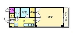 白鷺TKハイツ1号館[5階]の間取り