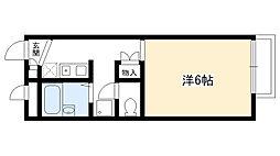 兵庫県西宮市下大市東町の賃貸アパートの間取り