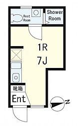 ディアコート神楽坂[1階]の間取り