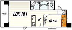 IL ROSSO堀川六角[13階]の間取り